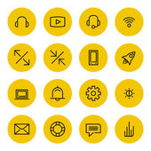 Thin line icons set for web and mobile — Stock Vector
