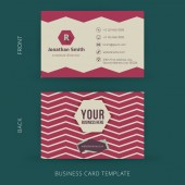 Vector abstract creative business card template. Eps10 — 图库矢量图片