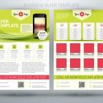 Vector business flyer template — Stock Vector #57583963