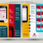Vector business flyer template — Stock Vector #57583991