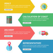 Flat design concept for delivery and cargo website template — Stock vektor