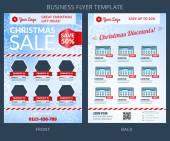 Christmas Sale Vector Business Flyer Template. EPS10 — Stock vektor