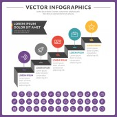 Vector abstract infographic design — Stock Vector