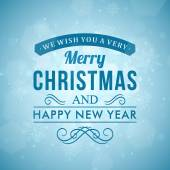 Merry Christmas message and light background with snowflakes. Vector illustration Eps 10.  — Wektor stockowy