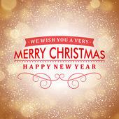 快乐圣诞祝词和浅色背景与雪花。矢量图 eps 10. — 图库矢量图片