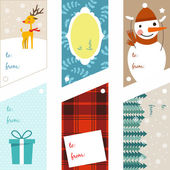 Christmas decoration set of design elements, labels, symbols,  objects and holidays wishes — Stock Vector
