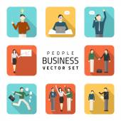 Business peoples flat vector illustrations, purchasing work, contract, agreement, business concept. — Stock Vector