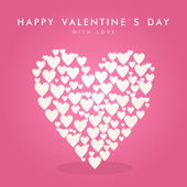 Aftelkalender voor Valentijnsdag abstract vector achtergrond met hart — Stockvector