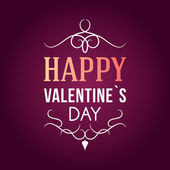 バレンタインデーのタイポグラフィー バッジ、スタンプやデザイン要素 — ストックベクタ