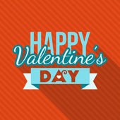Vector St. Valentine's day greeting card in flat style. Typography elements. Happy Valentine's day — Stockvector