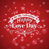 St. Valentine's Day abstract vector background with  — Stock Vector