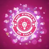St. Valentine's Day abstract vector achtergrond met — Stockvector