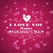 St. Valentine's Day abstract vector background with  — Wektor stockowy