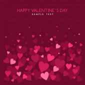 Valentine's Day abstract vector background with hearts — Stock Vector