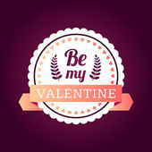 Valentine's day typography badge, stamp and design elements — Stock Vector