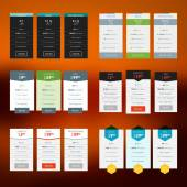 Set of vector pricing table in flat design style for websites and applications — Wektor stockowy