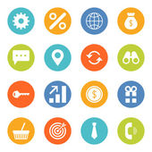 Set of flat design vector business and finance icons — Stockvektor