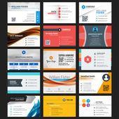 Vector set of modern creative business cards — Stock Vector