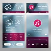 Set of flat design UI elements for website and mobile applications — Stockvektor