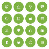 Flat icon set for web and mobile. Business and finance icons — Vector de stock