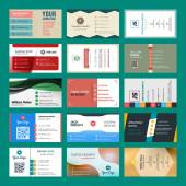 Vector set of modern creative business cards — Vettoriale Stock