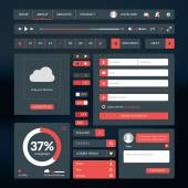Set of flat design UI elements for website and mobile applications — Stock Vector