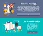 Conceito de Design plano para Web Banners e materiais promocionais. Estratégia de negócios e planejamento de negócios — Vetor de Stock