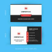 Vector Modern Creative and Clean Business Card Template. Flat Design — Stock Vector