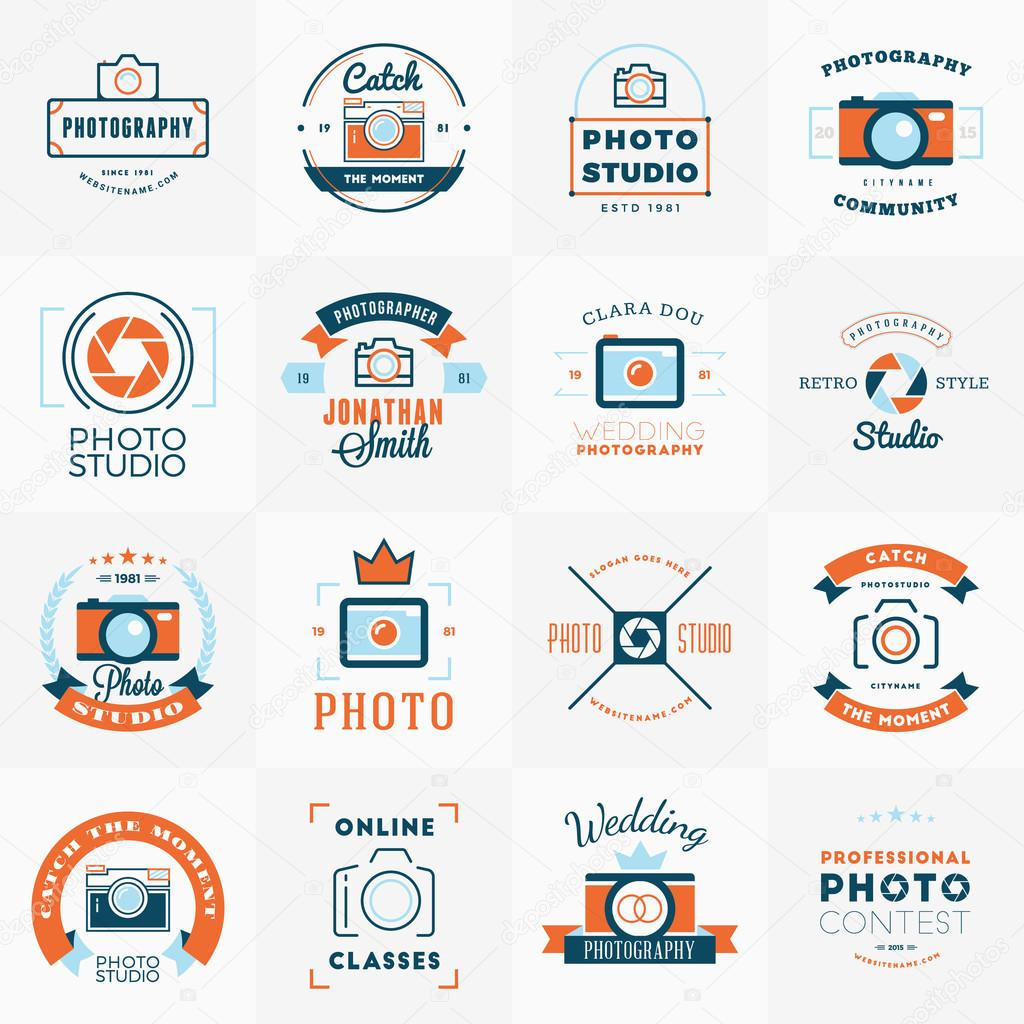 100 Free Photography Logo Templates