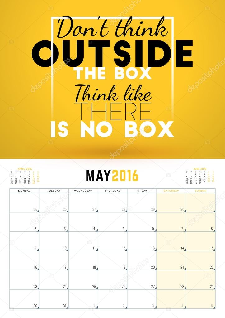 Typography Calendar Download : May wall calendar planner for year week starts