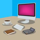 Freelance vectorobjecten — Stockvector