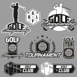 Vintage golf labels, badges and emblems — Stock Vector #74105687
