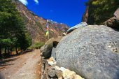 View of the hiking trails in Nepal — Foto de Stock