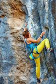 Kaya tırmanma uçurumdan — Stok fotoğraf