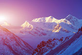 Snow capped mountains. — Stock Photo