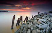 Beautiful seascape at sunset — Stock Photo