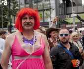 Elaborately dressed participant, during Christopher Street Day P — Stock Photo