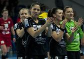 Pogon Baltica Szczecin players celebrates the victory — Photo