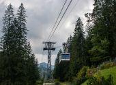 Cableway in Kasprowy Wierch peak in Tatra mountains — Stock fotografie