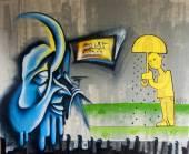 ストリート アート graffitiby 正体不明のアーティスト — ストック写真