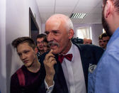 Janusz Korwin Mikke, candidate for President of the Republic Pol — Stock Photo
