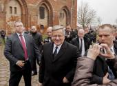President of the Republic of Poland Bronislaw Komorowski — Stock Photo