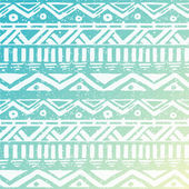 Hand Drawn Aztec Tribal Seamless Background Pattern on Sky Background — Stock Vector