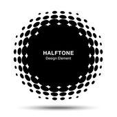 Abstract Halftone Design Element — Vector de stock