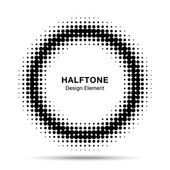 Black Abstract Halftone Design Element — Stok Vektör