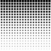 Black Abstract Halftone Square Dot Background — Stock Vector
