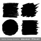 Set of Hand Drawn Grunge backgrounds. — Stock Vector