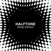 Abstract Halftone Design Element — Stockvektor