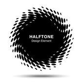 Schwarze abstrakte halbton-design-element — Stockvektor
