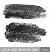 Gray Watercolor Brush Strokes — Vector de stock